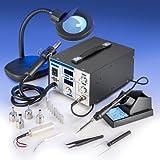 X-TRONIC XTR-4040-XTS Digital Hot Air Rework & Soldering Iron Station Bundle (5 Items)