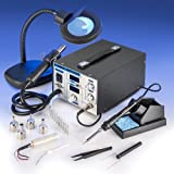 X-TRONIC XTR-4040-XTS Digital Hot Air Rework & Soldering Iron Station Bundle (5 Items)