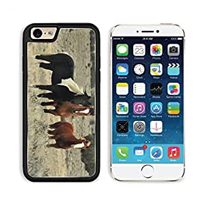 Horses Herd Animals Nature Field Trees Sky Apple iPhone 6 TPU Snap Cover Premium Aluminium Design Back Plate Case Customized Made to Order Support Ready Liil iPhone_6 Professional Case Touch Accessories Graphic Covers Designed Model Sleeve HD Template Wal wangjiang maoyi