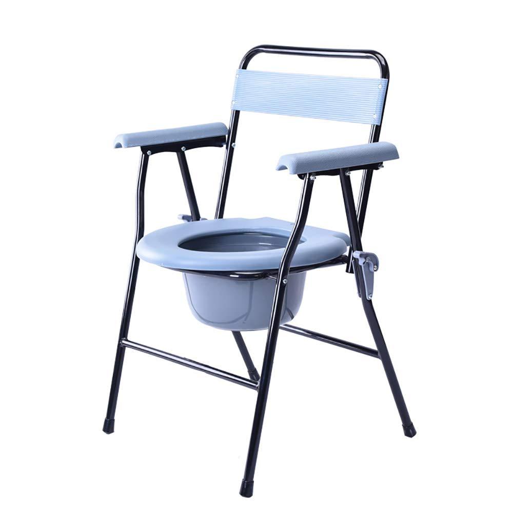 注目の DHGK 入浴用車椅子 コモードチェアー 便器チェア 便器椅子 可動式 妊娠中 いす イス B07P85G8CZ 排泄介護用品 イス 室内トイレ 折りたたみ式 手すり バケツ付き 妊娠中 高齢者 身体障害者用 B07P85G8CZ, 岡山こだわりマーケット 岡山村:d8695d60 --- a0267596.xsph.ru
