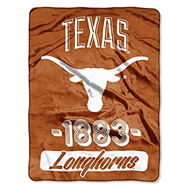 NCAA Texas Longhorns  Varsity  Micro-Raschel Throw, Orange, 46 x 60-Inch