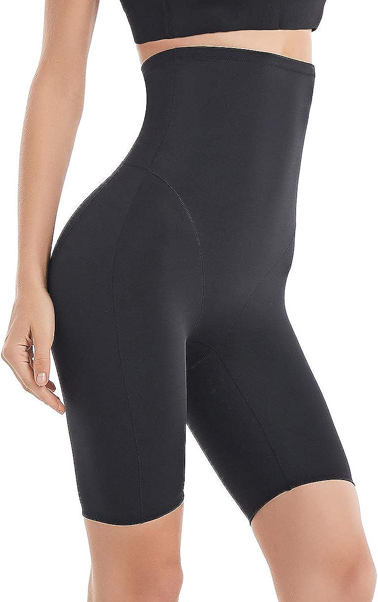 Fianmy Womens Shapewear High Waist Seamless Body Shaper Butt Lifter Panty Tummy Control Thigh Slimmer