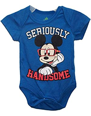 Mickey Mouse SERIOUSLY HANDSOME Baby Boys' Bodysuit Dress Up Outfit