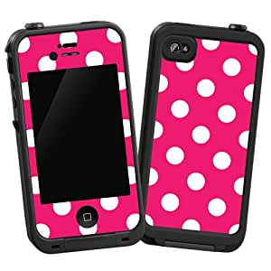 iphone 4s cases amazon white polka dot on raspberry quot protective decal 14423