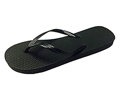 5e0104f75 Image Unavailable. Image not available for. Color  Chatties Wholesale Ladies  36 Pairs Solid Black Flip Flops