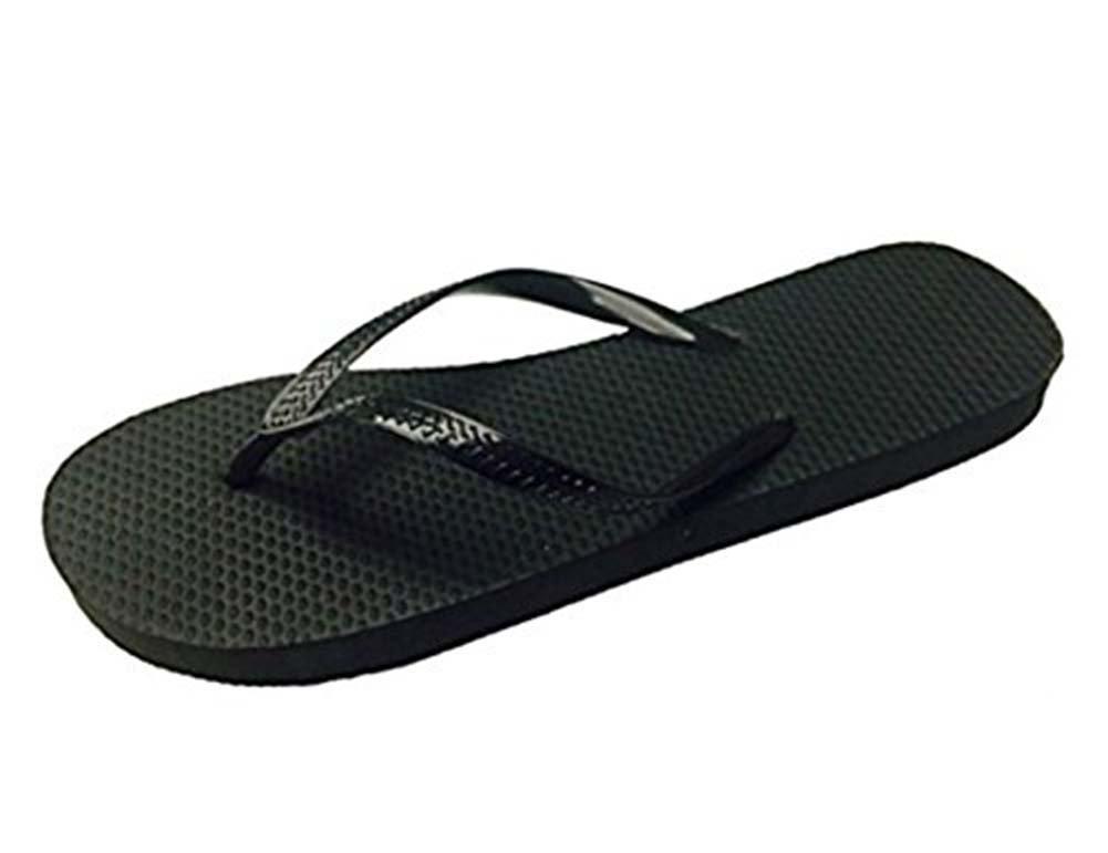 85e6cc4f1692e0 Chatties Wholesale Ladies 36 Pairs Solid Black Flip Flops