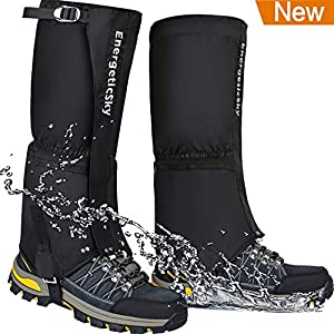EnergeticSky-Leg-Gaiters-Waterproof-Snow-Boot-Gaiters-for-Men-and-WomenGaiters-for-HikingSnowshoeingHuntingClimbingRunning1000D-Anti-Tear-Oxford-Cloth-Hiking-Gaiters