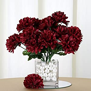 Efavormart 84 Artificial Chrysanthemum Mums Balls for DIY Wedding Bouquets Centerpieces Party Home Decoration Wholesale - Burgundy 18