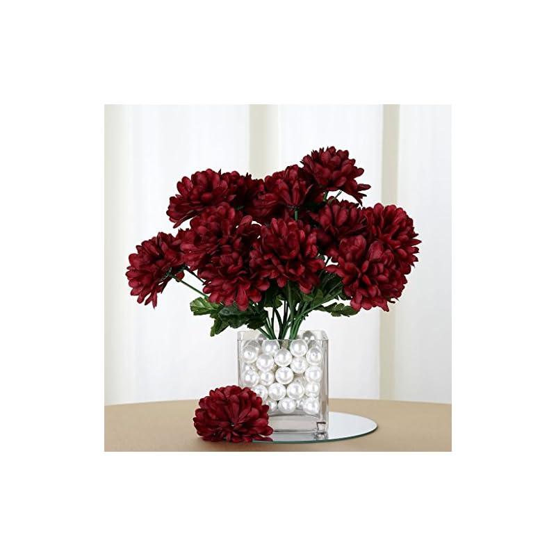 silk flower arrangements efavormart 84 artificial chrysanthemum mums balls for diy wedding bouquets centerpieces party home decoration wholesale - burgundy