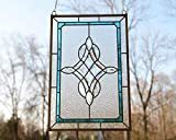 """16.75"""" x 24.75"""" Tiffany Style Stained Glass Clear"""