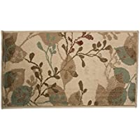 J&M Home Fashions Fashion Contemporary Non-Skid Woven Area Rug, 19x33, Perfect for Living Room, Kitchen, Bed Room, Loft, Office and more-Hula Flower