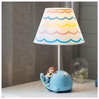 Xiuxiu Kinderzimmer Farbe Lampenschirm Cartoon Meerjungfrau