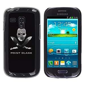 TopCaseStore / la caja del caucho duro de la cubierta de protección de la piel - Point Blank Machete Face - Samsung Galaxy S3 MINI NOT REGULAR! I8190 I8190N