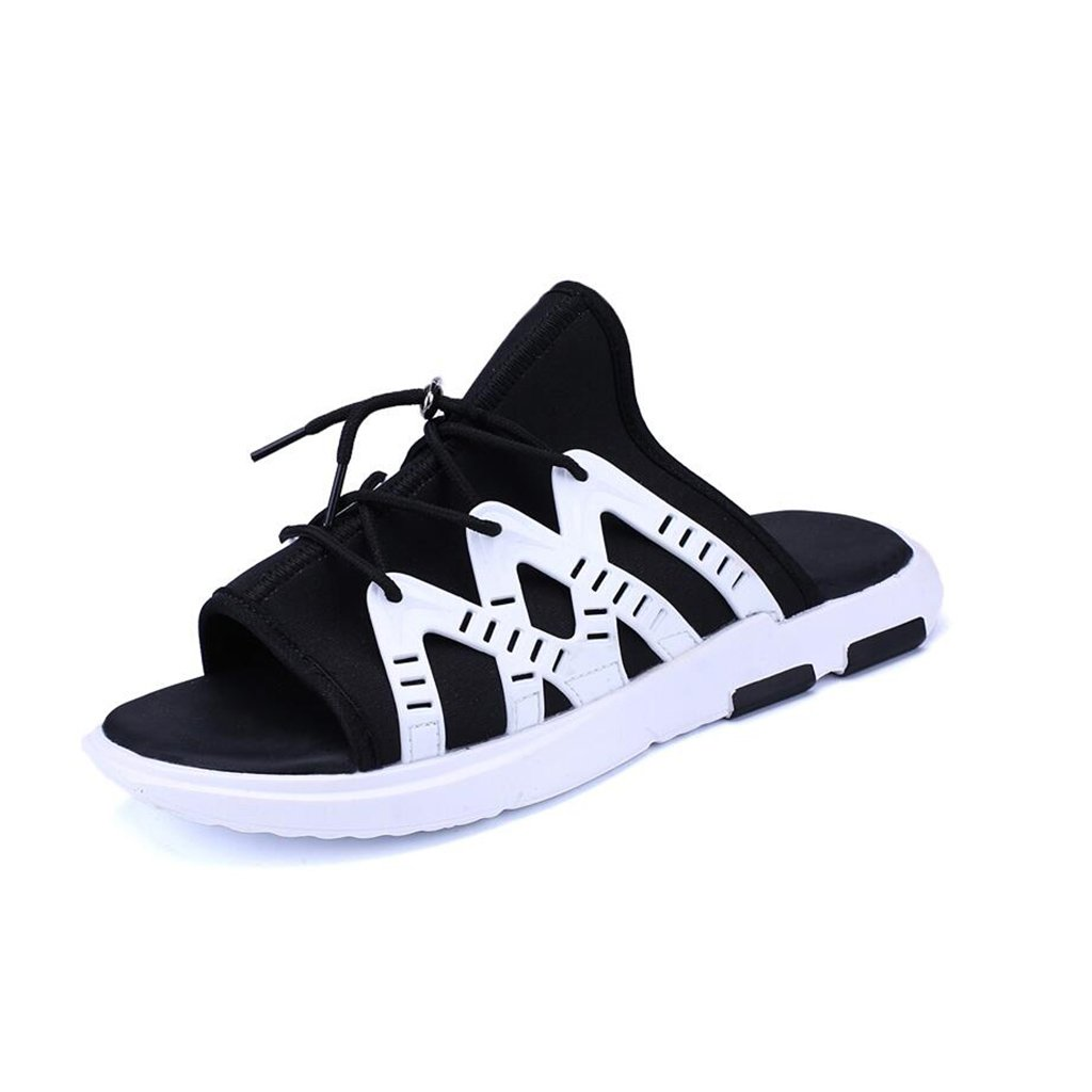 new style 383e6 67850 CJC Men s Shoes Shoes Shoes Beach Shoes Wear-Resistant Casual Comfortable  Non-Slip Open Toe Personality Fashion Soft Bottom Breathable Go Out (Color    White ...