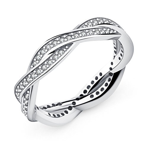 Lord Of The Rings Costumes Diy (Cubic Zirconia Women Engagement Ring Silver Plated Eternal Love Promise Ring Diameter 18mm)