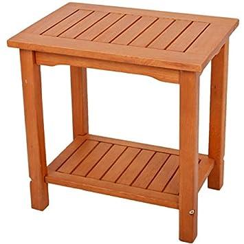 Amazonde Unbekannt Beistelltisch Akazie Geölt 50x35x50 Gartentisch