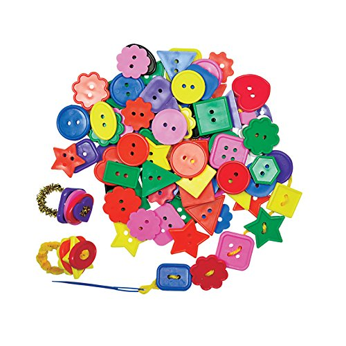 Buttons Bright (ROYLCO R2131 Bright Buttons, Assorted Sizes, Shapes and Color, 1/2-Pound)