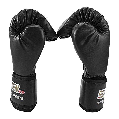Softmusic 1 Pair Faux Leather Training Boxing Kickboxing Gloves Fighting Sandbag Gloves