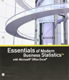 img - for Bundle: Essentials of Modern Business Statistics with Microsoft Office Excel, Loose-leaf Version, 7th + MindTap Business Statistics, 1 term (6 months) Printed Access Card book / textbook / text book