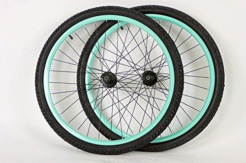 26 inch Mountain Bike Bicycle Wheels for Disc or Rim Brakes with Kenda Kobra 26 X 2.0 Tires and Tubes