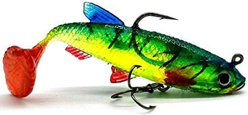 Fishing Lures,3D Eyes Soft Fishing Lure Single Hook Baits Artificial Bait