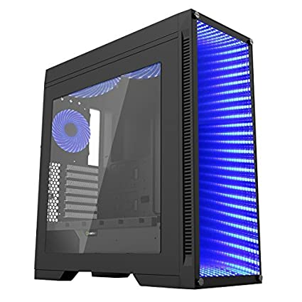 sports shoes b0148 5d43a CUK Continuum Full ATX Tower Gaming Desktop Case with Infinity Mirror and  RGB LED Lighting