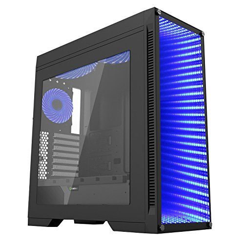 CUK Continuum Full ATX Tower Gaming Desktop Case with Infinity Mirror and RGB LED Lighting