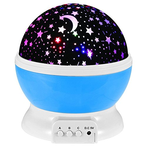 Popular Star ([Newest Generation] LED Night Lighting Lamp -Elecstars Light Up Your Bedroom With This Moon, Star,Sky Romantic LED Nightlight Projector, - Best Gift for Teens Kids Children Sleeping)