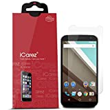 iCarez [HD Clear] Screen Protector for Motorola Google Nexus 6 [Unique Hinge Install Method With Kits ] Easy Install with Lifetime Replacement Warranty (3-Pack)