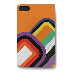 Leather Folio Phone Case For Apple iPhone 6 Leather Folio - 60s Geometric Shapes Lightweight Wrap-Around
