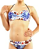 fruitVogue Women's 2-Piece Bandeau Bikini Set Lightly Padded Underwire Swimsuit Size: 4 Multicolor (BW_039_36)