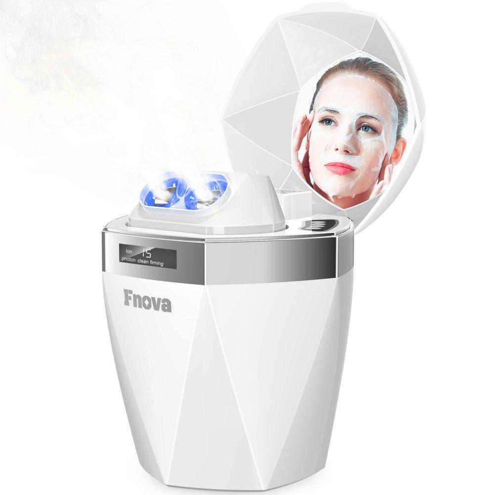 Face Steamer, Fnova Nano Ionic Facial Sauna Steamer Professional Home Spa hot-cold mist for Softer Skin Pores Blackheads Acne Sinus Treatment