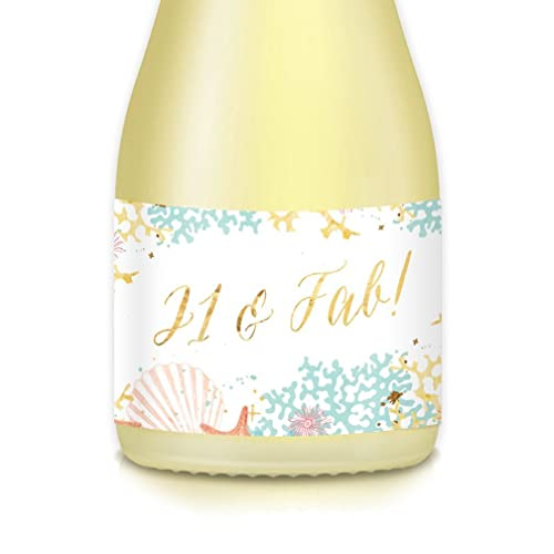 Female 21st Birthday Party Ideas Mini Champagne Wine Bottle Labels Set Of 20 Summer Theme 35 X 175 Decals Celebrate Her Twenty First Sister