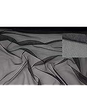 Stofboek zwart stretch net gatfilet stof -WABE 1MM - netstof stoffen, D171