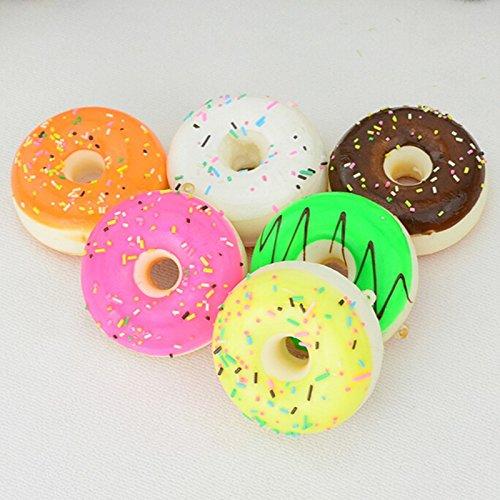 Amazon.com: Nuevo y cuadrado Mini Donut llavero Chocolate ...
