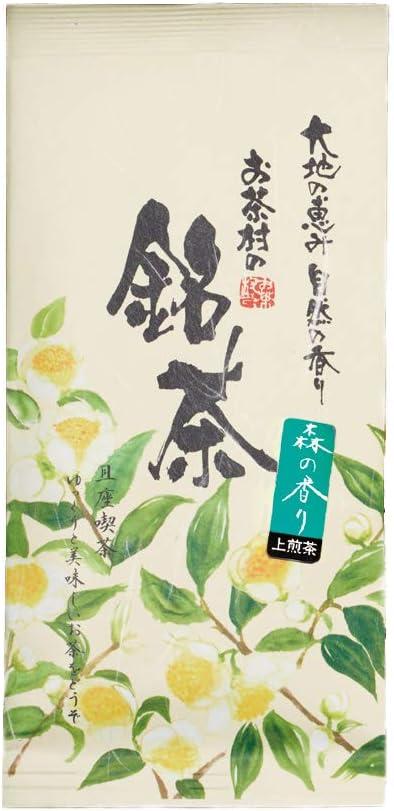お茶村 上煎茶 森の香り(100g)九州産(八女産、鹿児島産)茶葉のみ使用