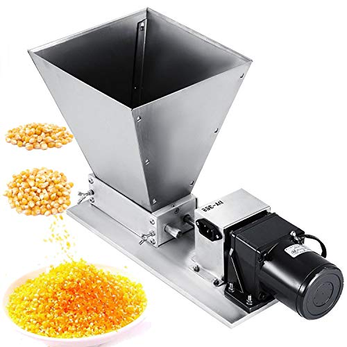 Happybuy Electric Grinder 2 Roller Mill Homebrew 40PRM Malt Crusher with 11LBS Hopper for Grains Barley Grinding