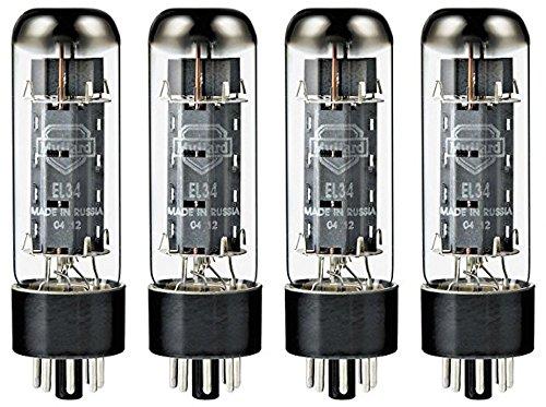 Mullard EL34 Power Vacuum Tube, Platinum Matched Quad by Mullard
