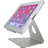 iPad Desktop Stand Enclosure with Security Lock, work with your iPad like iMac, Great for POS Kiosk Retail Restaurant