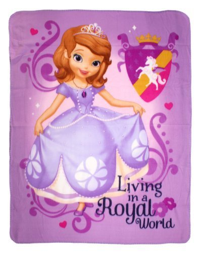 Amazon Disney Sofia The First Royal Plush Raschel Throw Blanket New Sofia The First Throw Blanket