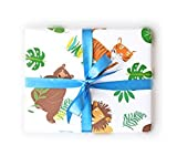 Sea Urchin Studio Wrapping Paper with Lions Tigers Bears Gift Wrap - wrapping paper for boys and girls