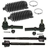 #7: Complete 6pc Inner Outer Tie Rod w/Rack and Pinion Boot Kit - 4WD & 2WD Torsion Bar Suspension 2004-2005 Chevy Colorado and Canyon 4x4 + 2WD Torsion Bar