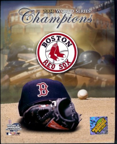 2004 World Series Champions Boston Red Sox 8 x 10 Glossy Photo (Hat & Glove) - Shipped in Protective Top Load !