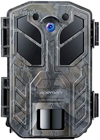 APEMAN Trail Camera 30MP 4K Hunting Camera 40PCs IR LEDs Game Camera for Crisp Night Shot Vision up to 65ft IP66 Waterproof Design Wildlife Camera for Wildlife Hunting and Home Security