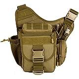 Tactical Camera Bags, Upgraded Version Outdoor Lightweight & Durable Professional DSLR Camera Photography Multi-functional Messenger Single Shoulder Bag, Super Saddle Bag (Coyote Brown)