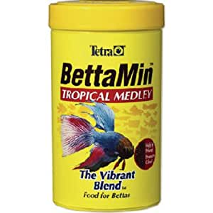 Tetra 16838 bettamin flakes betta fish food pet supplies for Food for betta fish