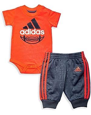 Baby Toddler Boys 2pc Bodysuits & Pants Set, Orange