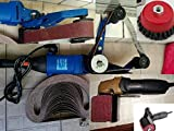 handheld polisher sander - HPG-331 Pipe and Tube Polisher Sander Grinder 40 FREE Belt 2 Cup Brush And HB-5800 Hand Held Angle Burnished Stainless Steel Polisher 3 FREE Wheel for Polishing Stainless Steel (the pipe polisher is also a variable speed polisher for granite concrete