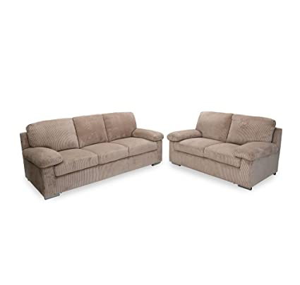 home Andy Five Seater Sofa Set 3-2 (Mocha Brown)