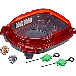 BEYBLADE Burst Turbo Slingshock Rail Rush Battle Set Game — Complete Set Burst Beystadium, Battling Tops, and Launchers (Amazon Exclusive)